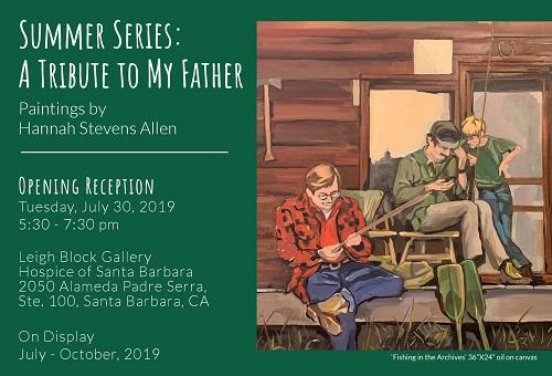 Hospice of Santa Barbara Art Reception: Hannah Stevens Allen title=