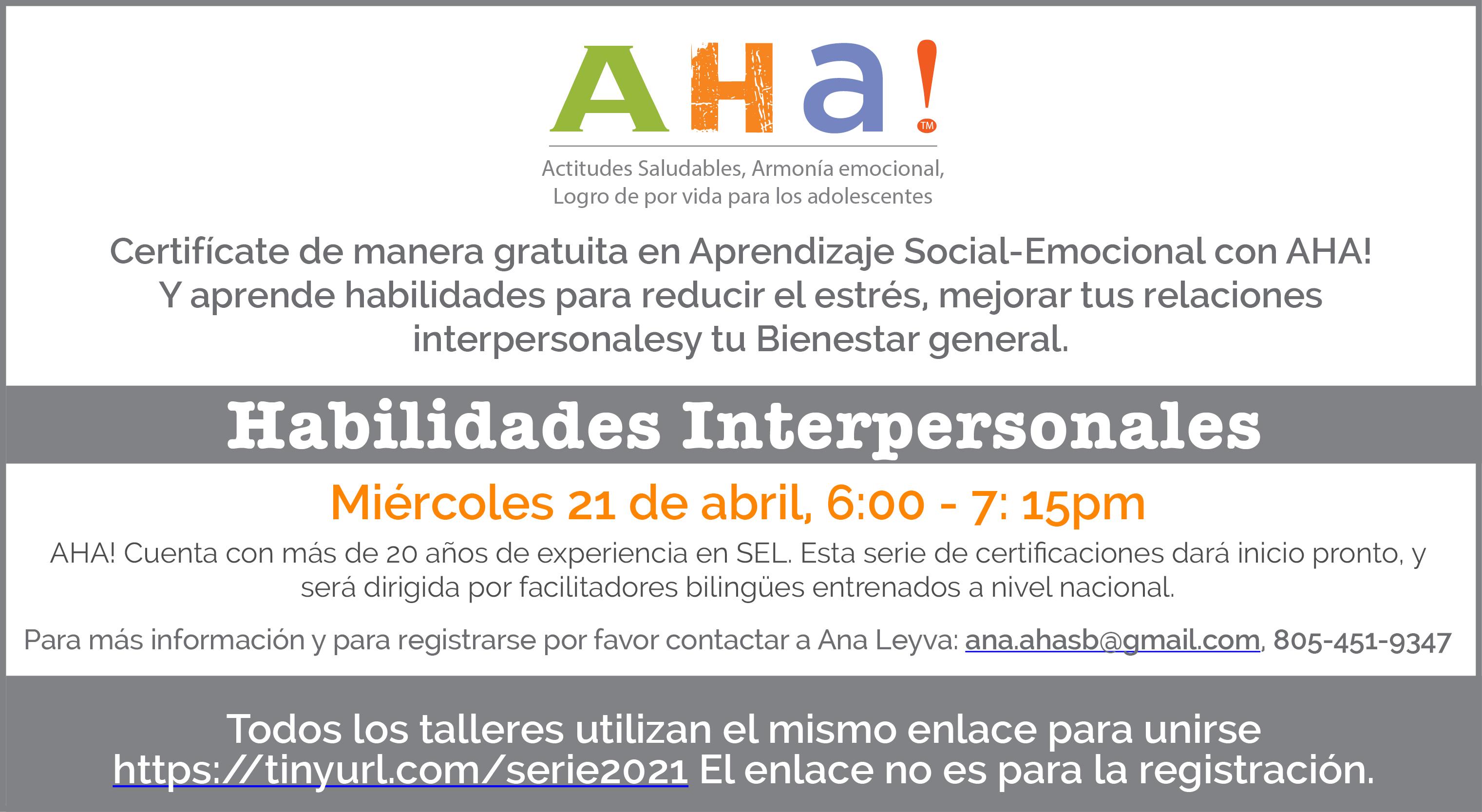 Programas Gratuitos de Certificación de AHA! title=