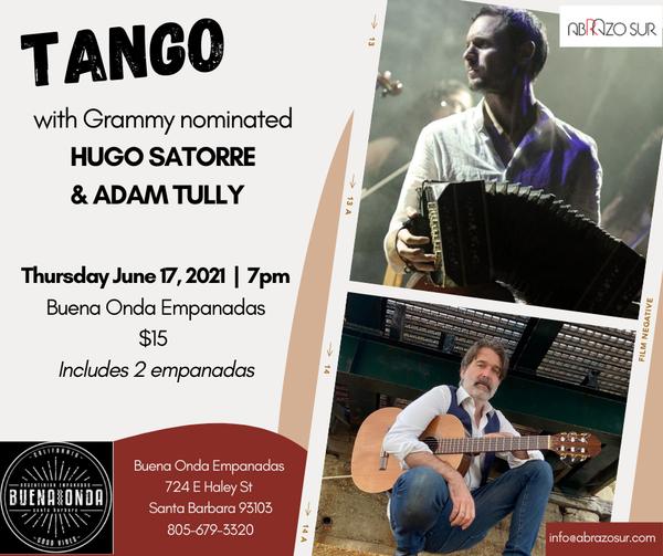 Tango at Buena Onda: Hugo Satorre & Adam Tully  title=