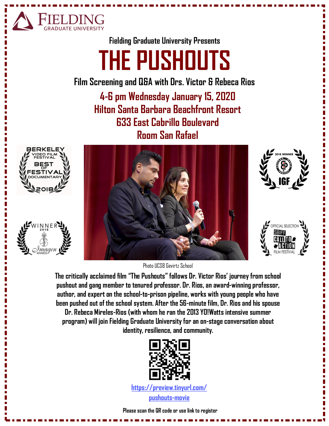 """""""The Pushouts"""" Free film screening and Q&A title="""