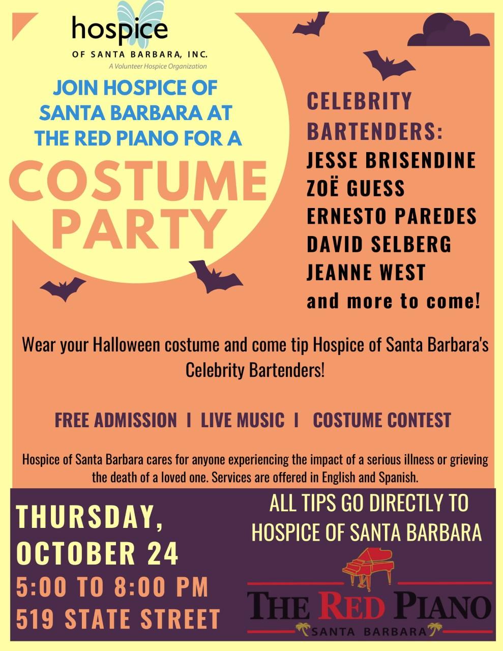 Hospice of Santa Barbara: Costume Party at The Red Piano