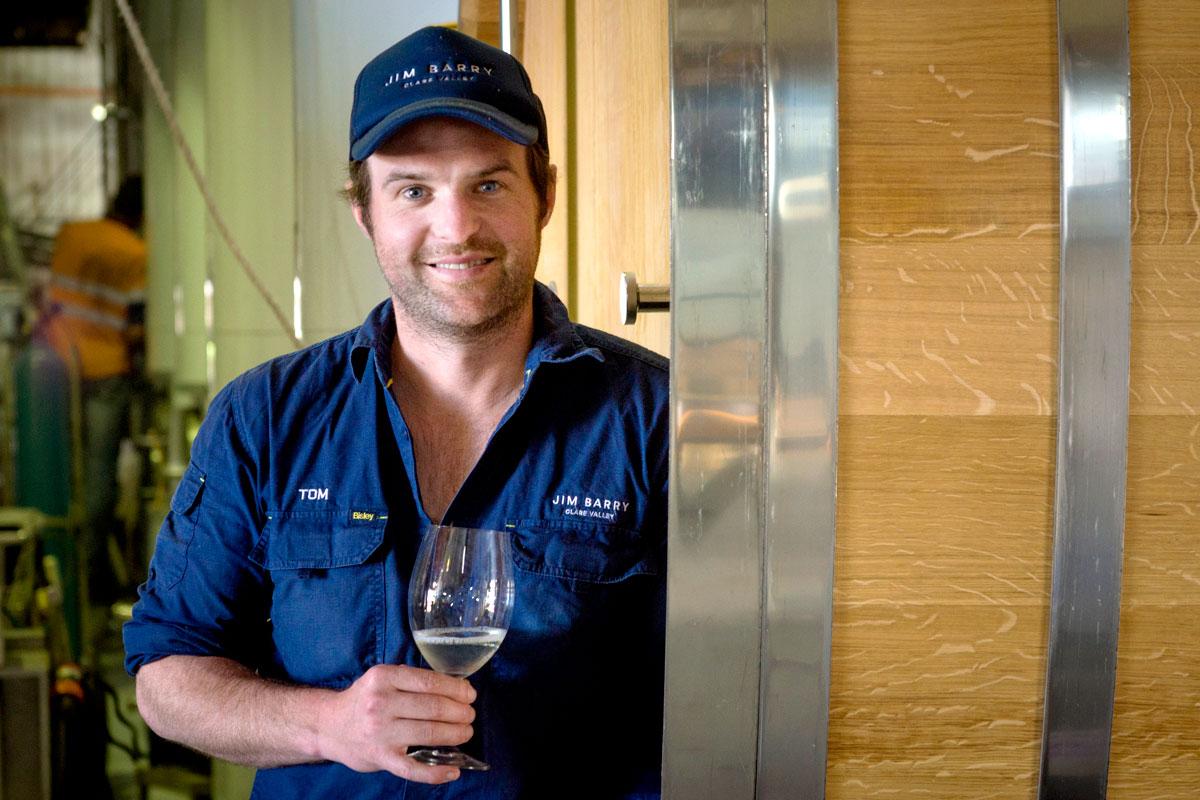Australian Winemaker Tom Barry Pouring Award-Winning Wines title=