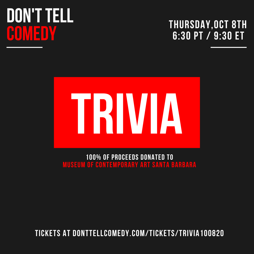 Comedy Trivia Night | Don't Tell Comedy x MCASB  title=