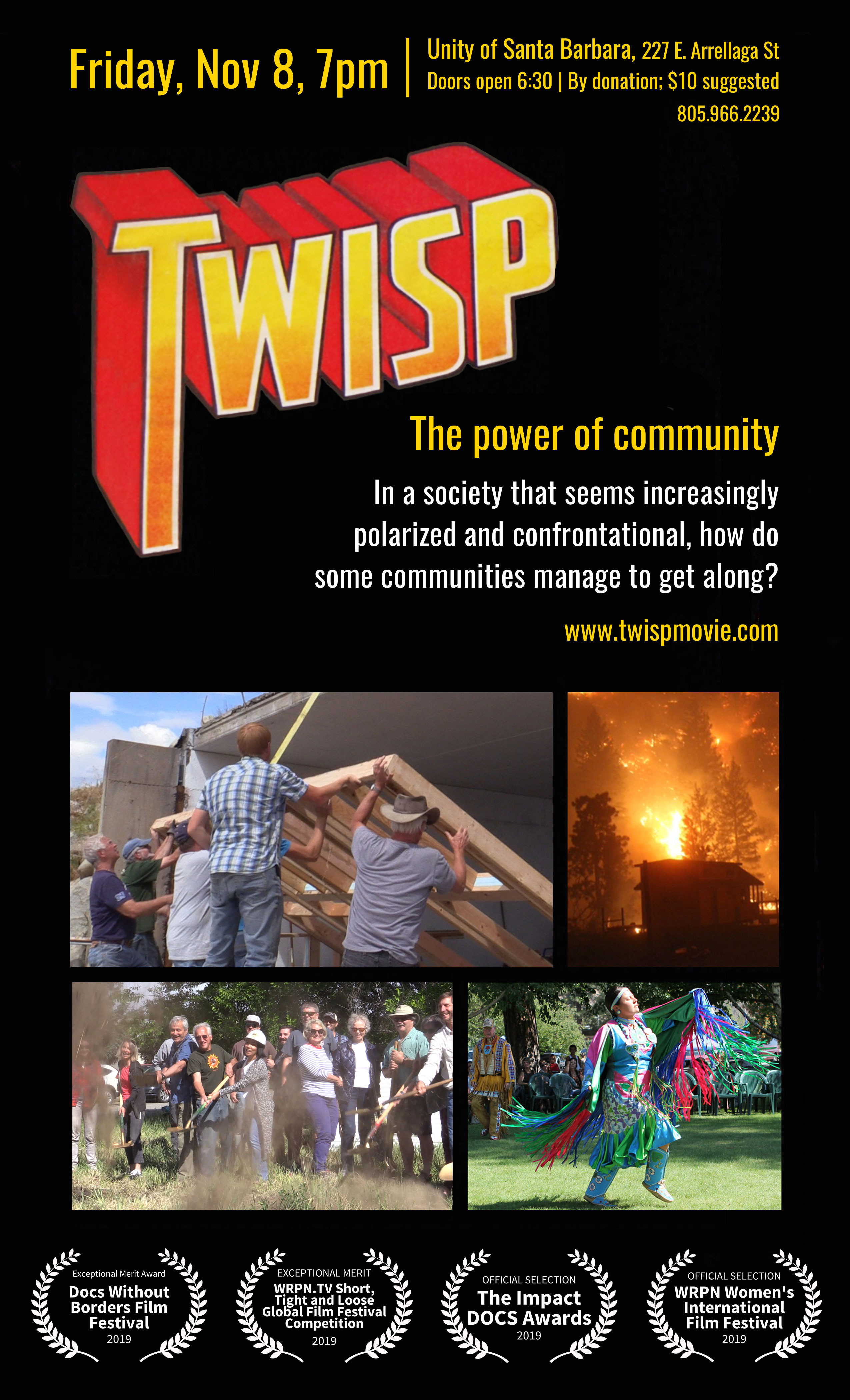"Unity of SB to premiere ""Twisp: The Power of Community""  title="