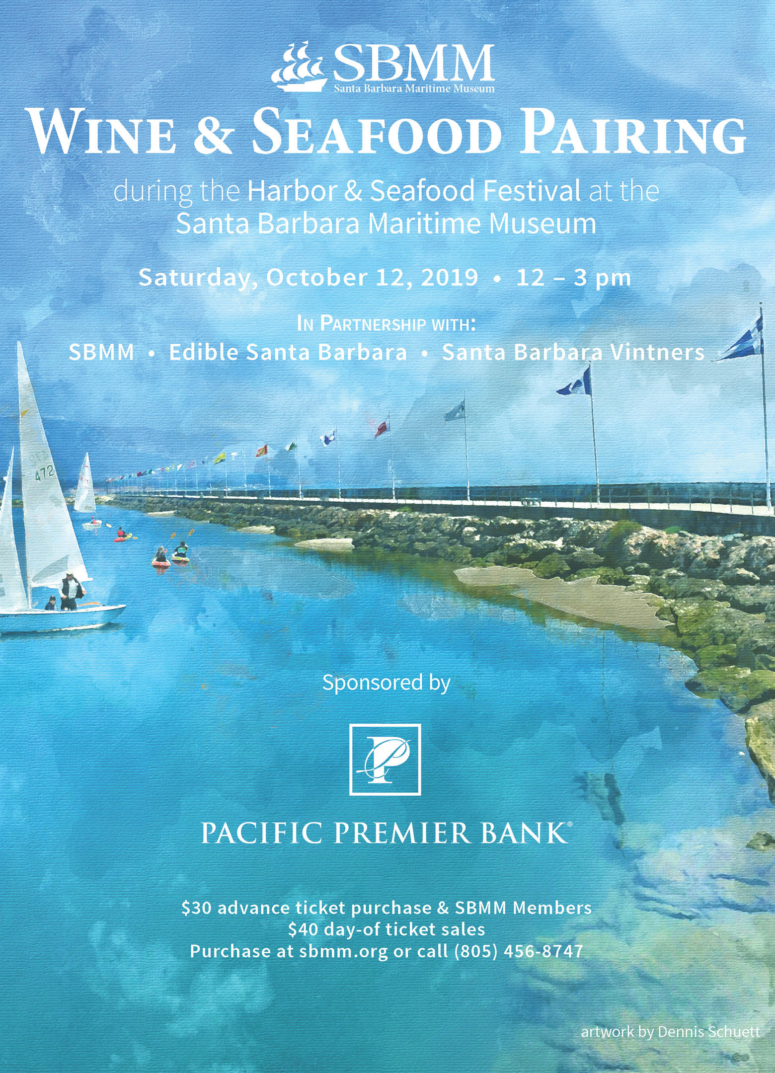 Wine & Seafood Pairing during the Harbor and Seafood Festival title=