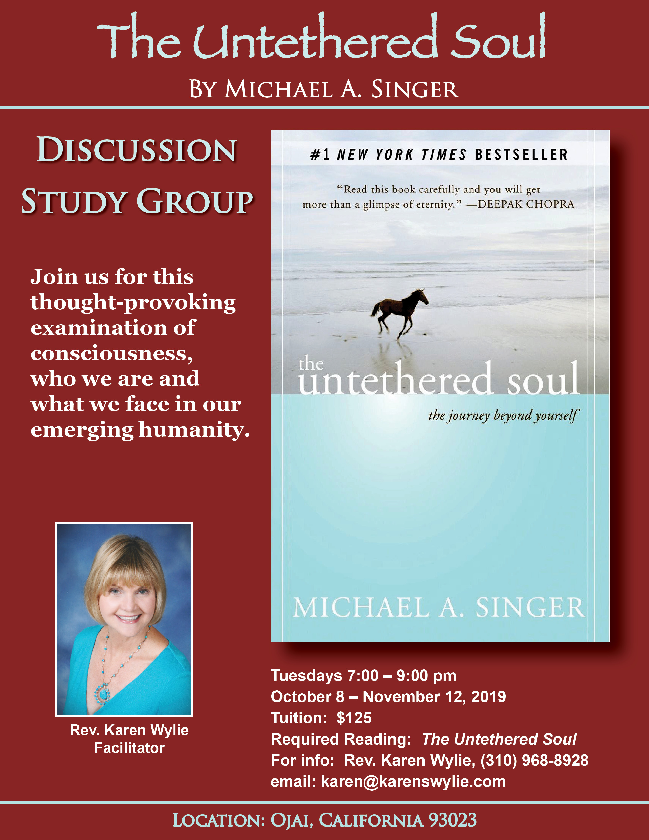 """""""The Untethered Soul"""" book discussion group"""
