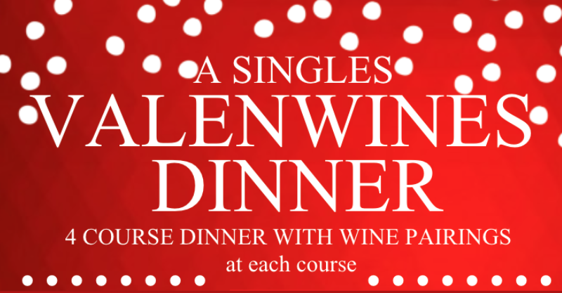 Valenwines 4-course Dinner & Wine Pairing for Singles