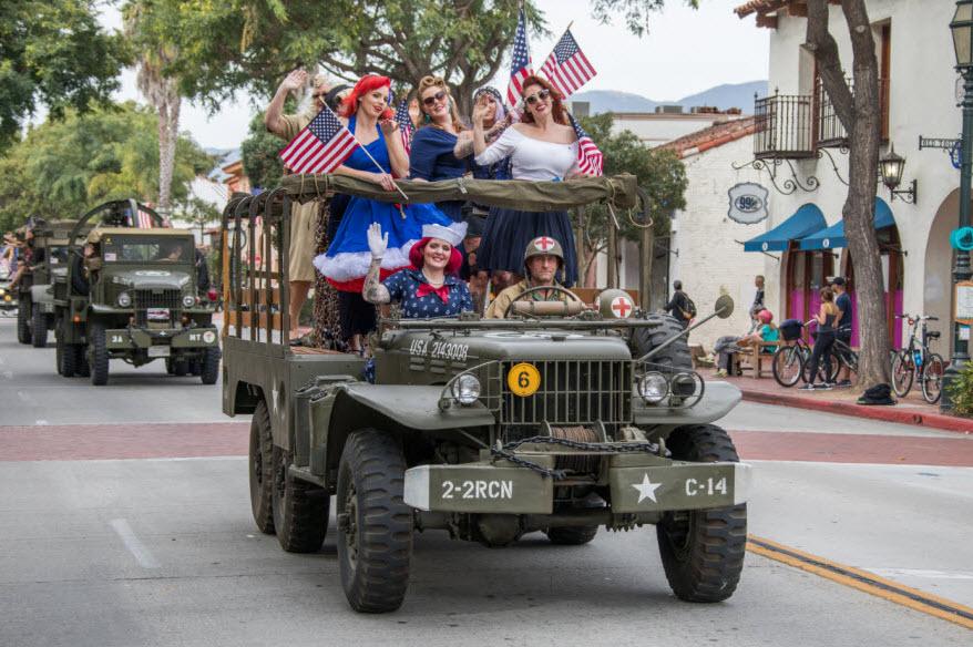 Santa Barbara Veterans Parade title=