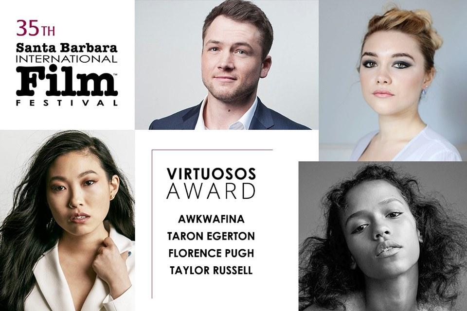 Virtuosos Award Presented honoring Awkwafina, Taron Egerton, Florence Pugh, and Taylor Russell title=