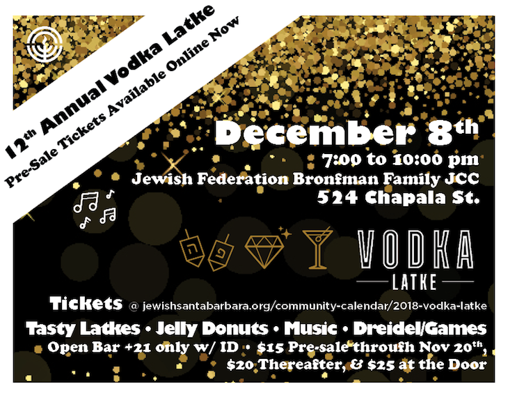 12th Annual Vodka Latke Young Adult Holiday Party title=