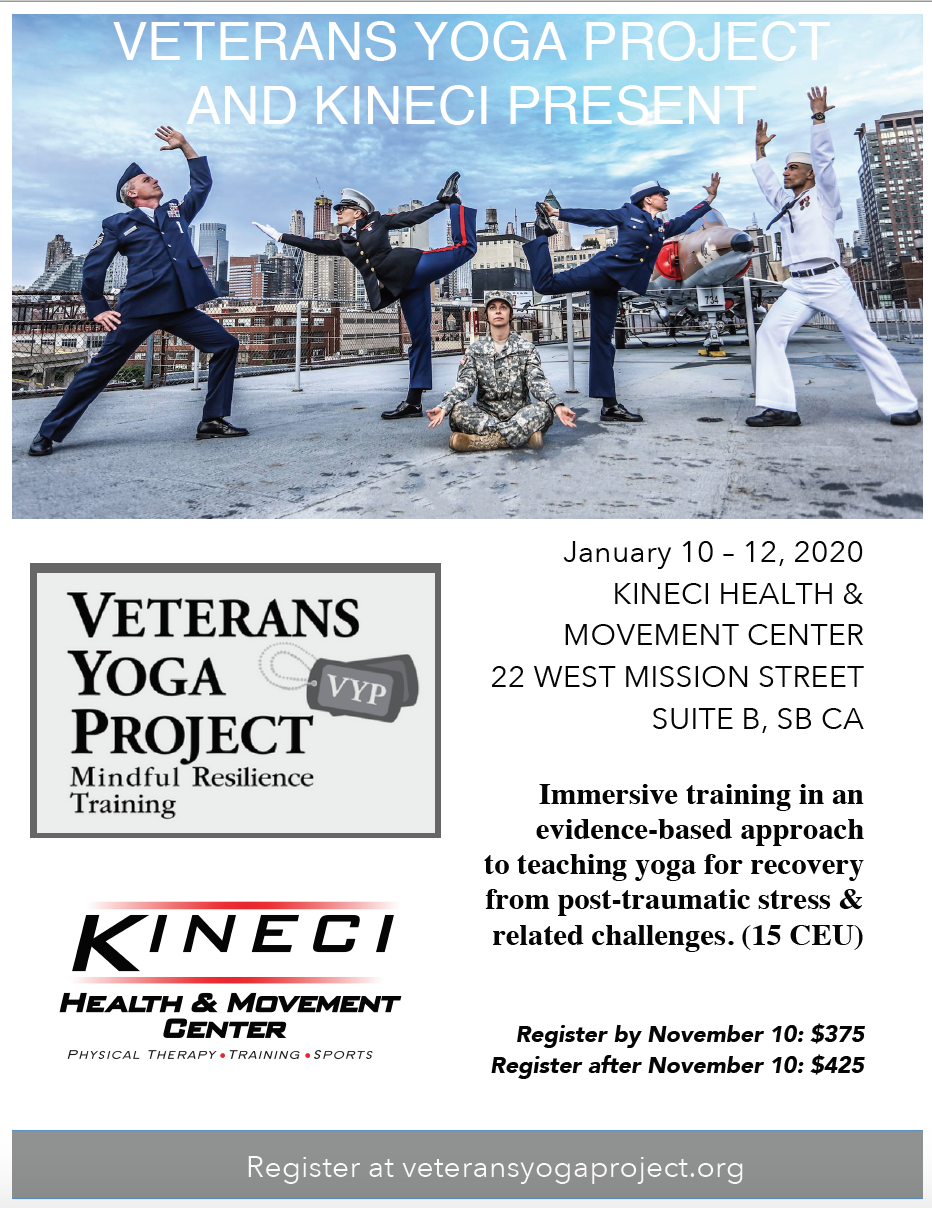 Veterans Yoga Project - Mindful Resilience for Trauma Recovery title=