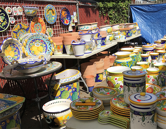 Italian Pottery Outlet Warehouse Sale title=