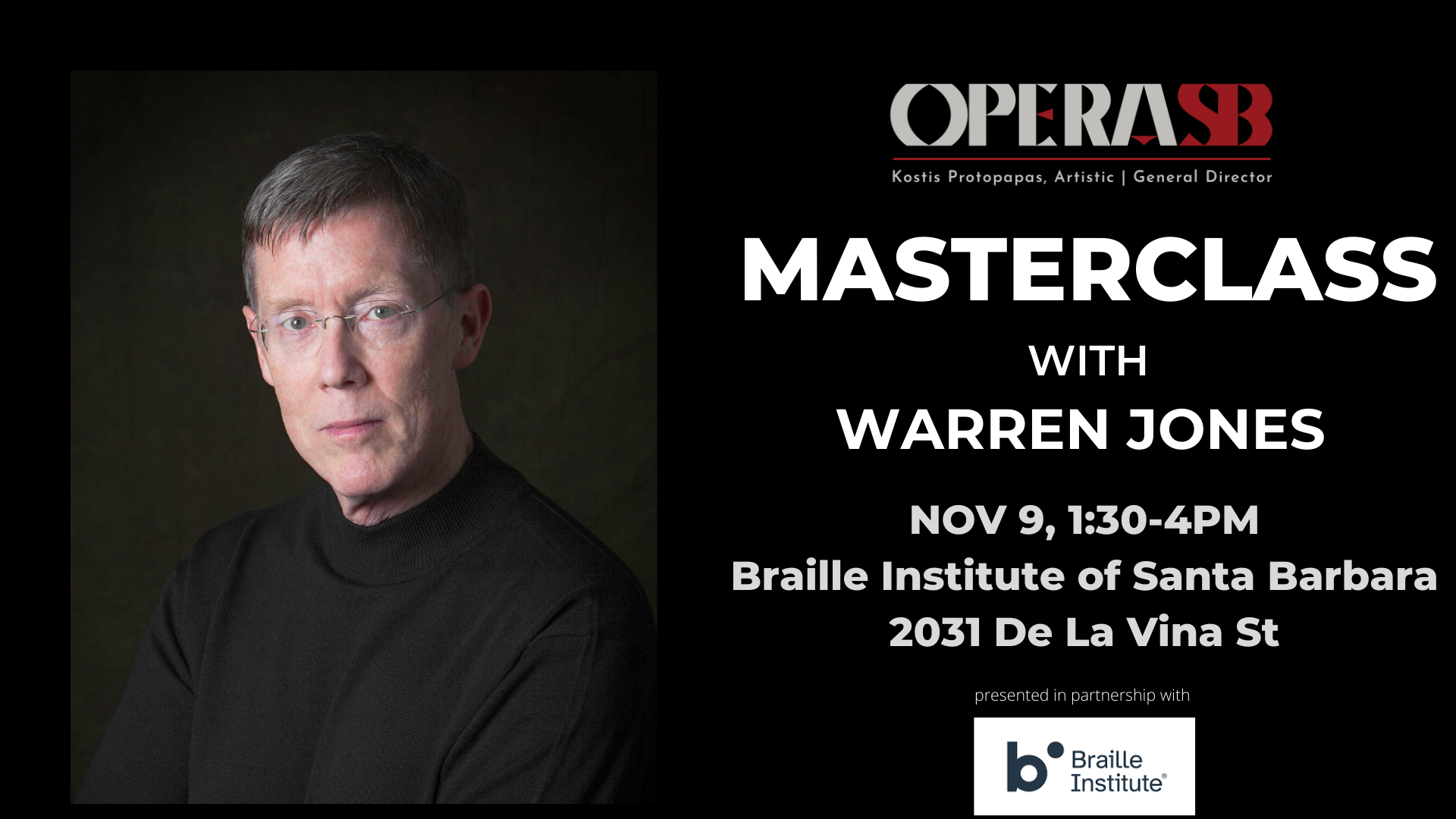 Opera SB's Free Masterclass with Warren Jones title=