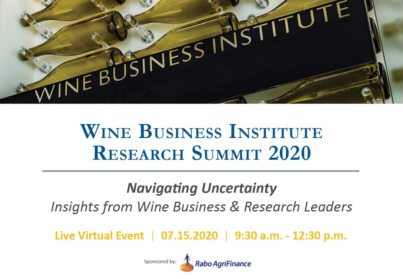 Wine Business Institute Research Summit 2020 title=