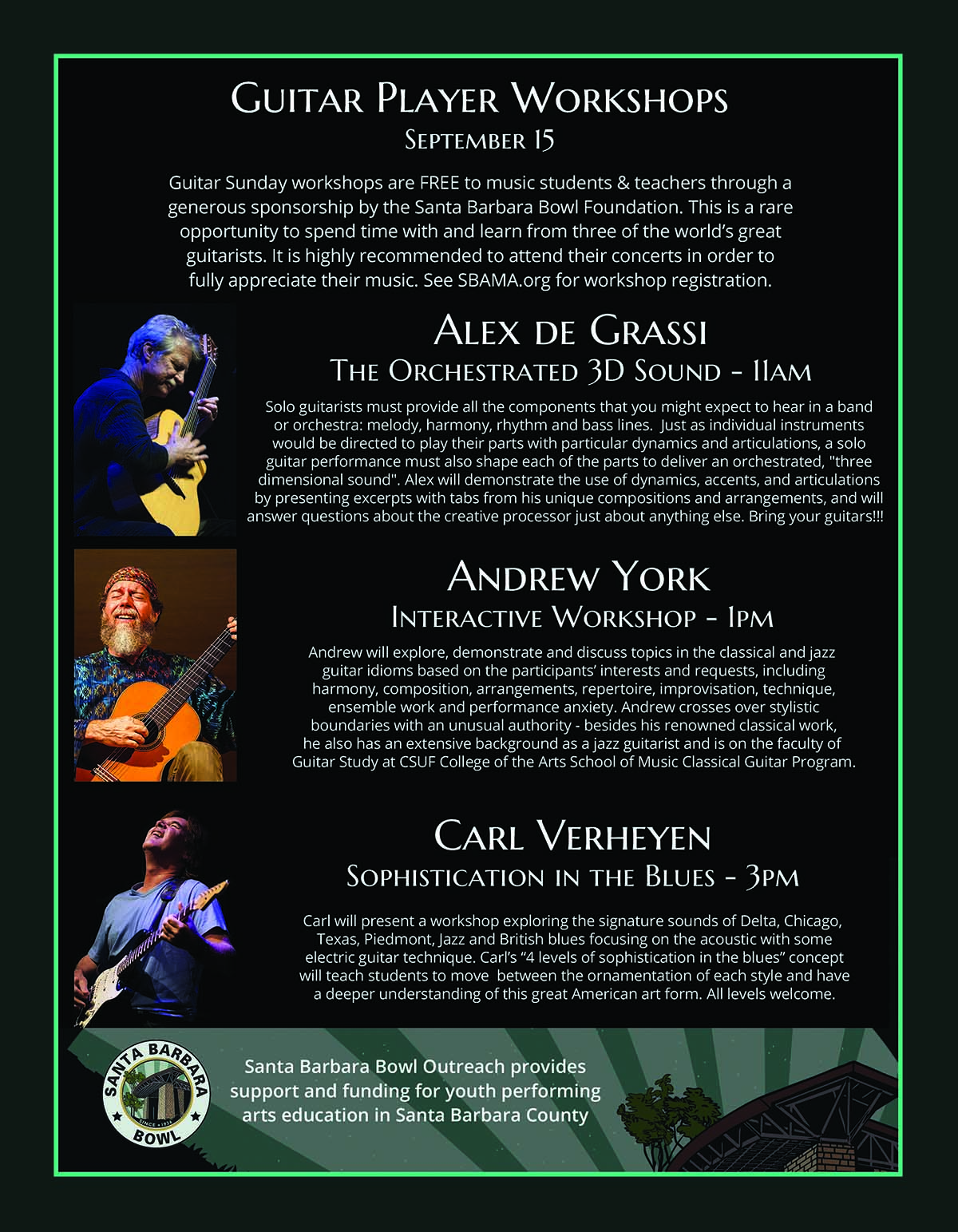 SBAcoustic GUITAR SUNDAY Workshops title=