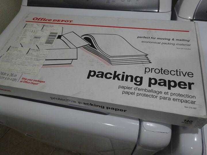 Office Depot Protective Packing Paper 24 x 36 approx 140 sheets $20  obo Solvang, CA