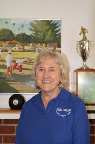 Janet Napier 2018 President Santa Barbara Lawn Bowls Club