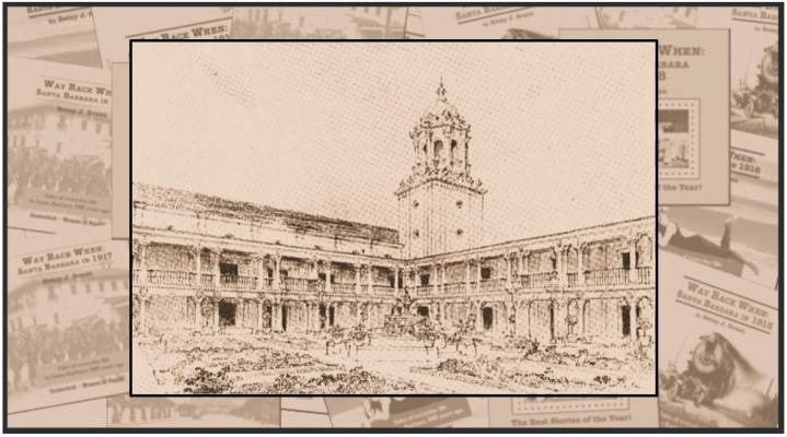 Santa Barbara Courthouse Design Sketch from 1919 title=