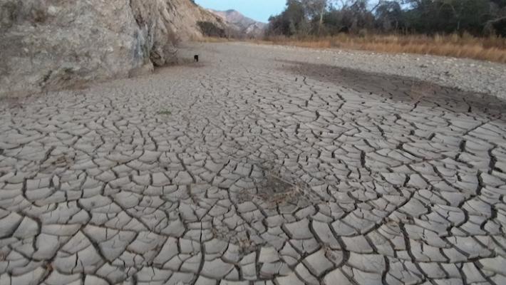 Dried Santa Ynez Riverbed