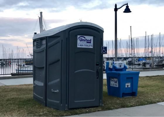 Portable Toilet at Santa Barbara Harbor title=