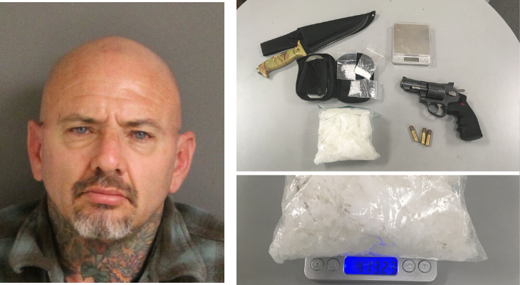 Traffic Stop Turns into Narcotics Warrant Service