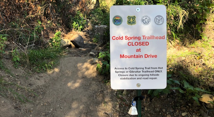 Cold Springs Trail to Reopen Sunday