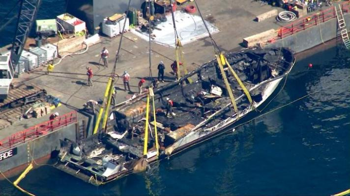 Coast Guard Concludes Salvage Efforts for Conception Dive Boat title=