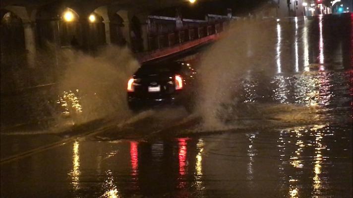 Rainstorm Floods Downtown