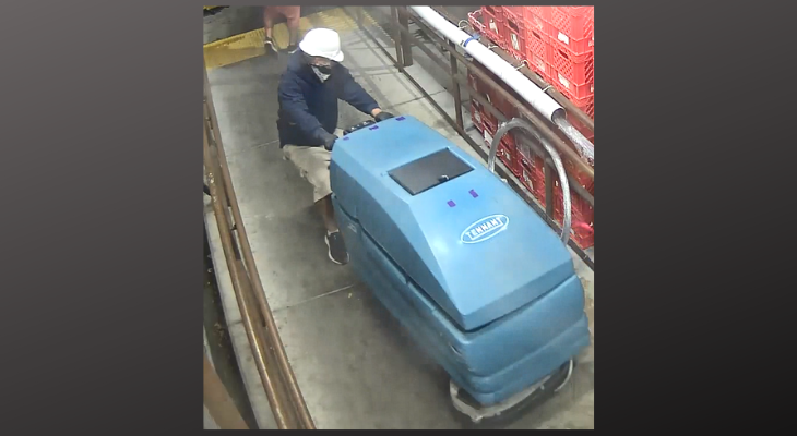 Police Search for Stolen Floor Scrubber title=