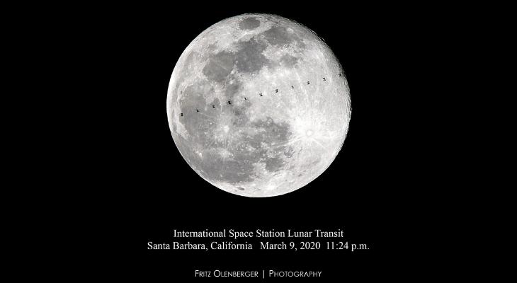 International Space Station Lunar Transit title=