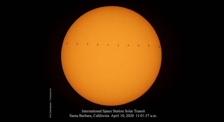 Solar Transit of the International Space Station title=
