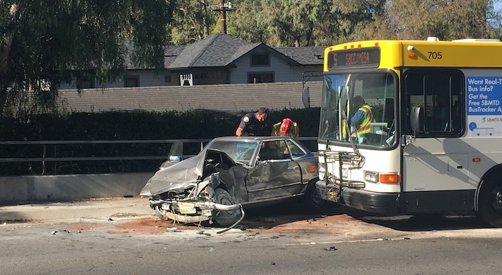 Woman Dies After Vehicle Crashed Into Wall and MTD Bus