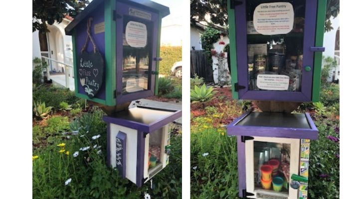 Neighbor Converts Free Little Library to Free Little Pantry title=