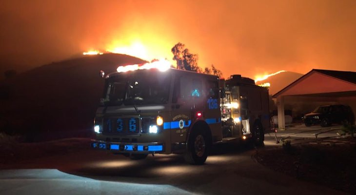 Maria Fire 95% Contained at 10,000 Acres title=