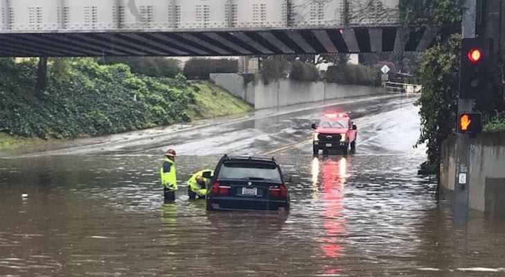 Flash Flood Warning in Montecito