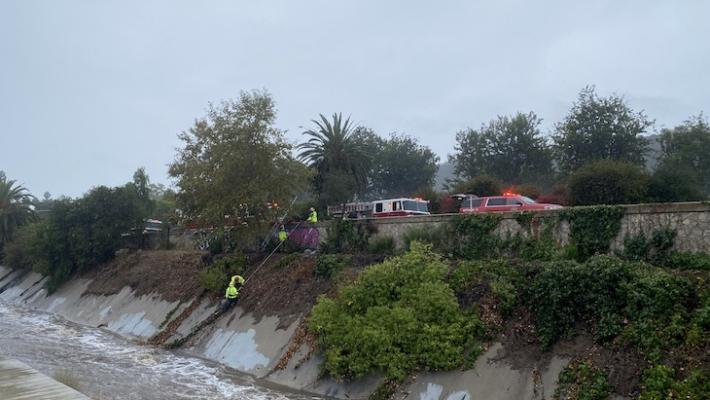 Water Rescue near Hwy 101 at Carrillo