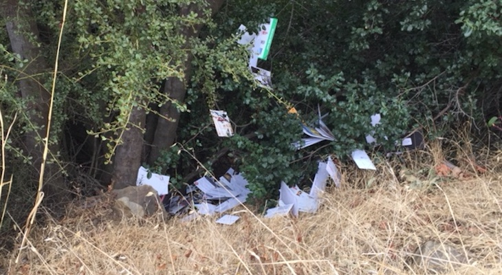 Stolen Montecito Mail Littered Around Painted Cave title=