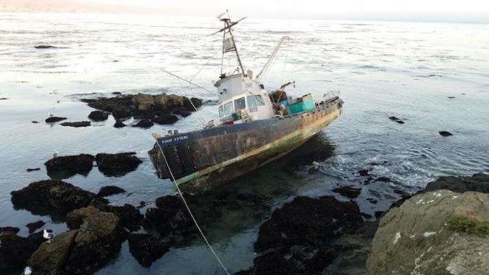 Hazardous Materials Removed from Grounded Fishing Boat
