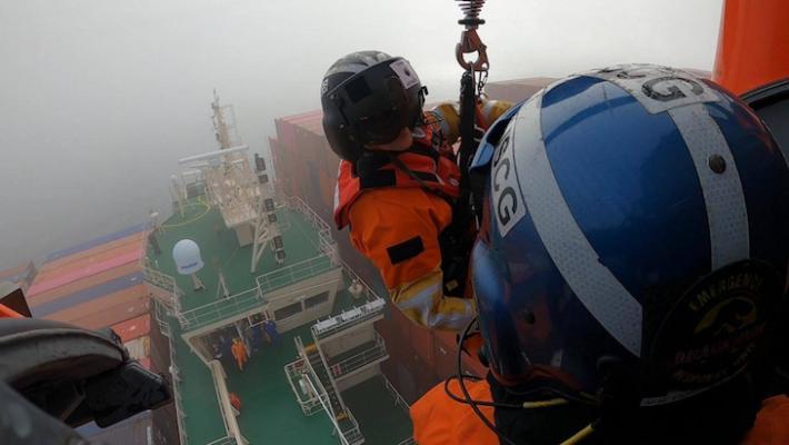 Coast Guard Rescue Sailor Off San Luis Obispo Coast title=