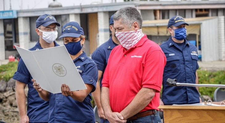 Coast Guard Honors Local Mariner in Oxnard