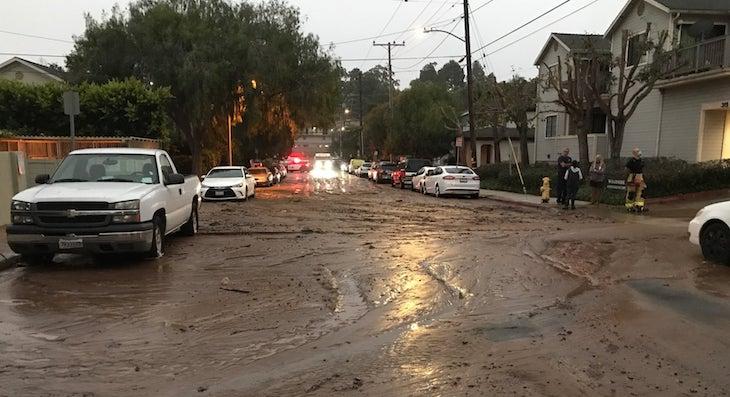 Broken Water Main Near McKinley School