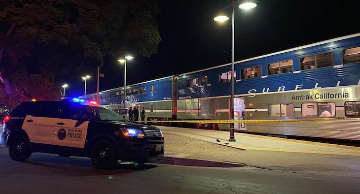 Pedestrian Struck by Train on W. Montecito Street title=
