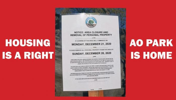Do Not Remove Anisq'Oyo Park's Houseless Encampments title=