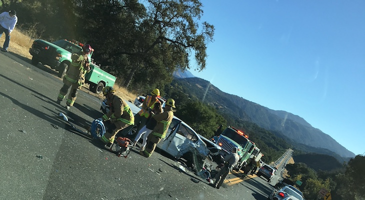 Vehicle Rollover on SR-154 title=