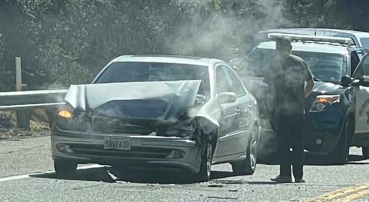 Traffic Collision on Highway 154