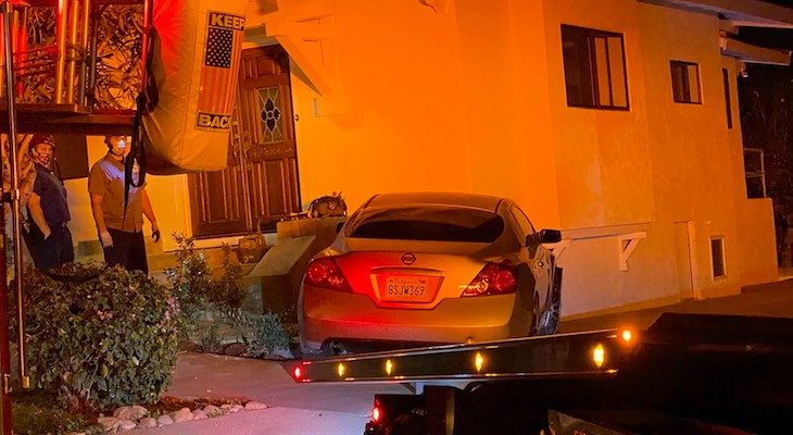 Vehicle Crashes into Eastside Home
