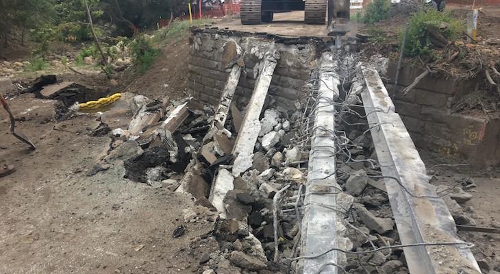 Caltrans Continues Repair on SR-192 Bridges Damaged by Mudslide