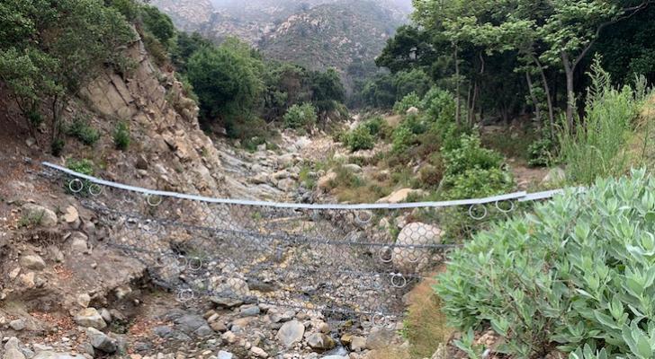 Debris Flow Nets on San Ysidro Trail