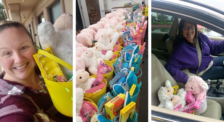CASA Volunteers Deliver Easter Baskets for Children title=