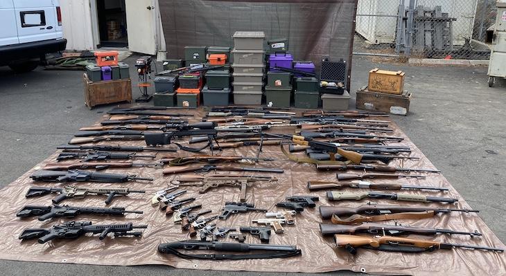Deputies Seize 92 Firearms and 90 Grams of Methamphetamine
